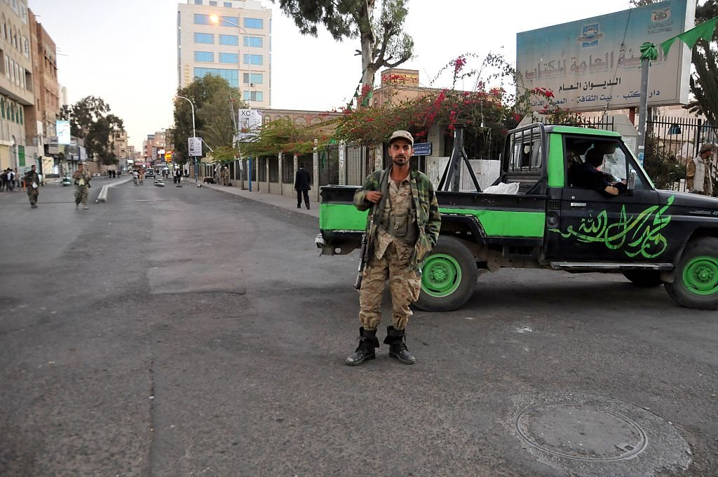 قوات تابعة لحركة أنصار الله الحوثية في العاصمة صنعاء