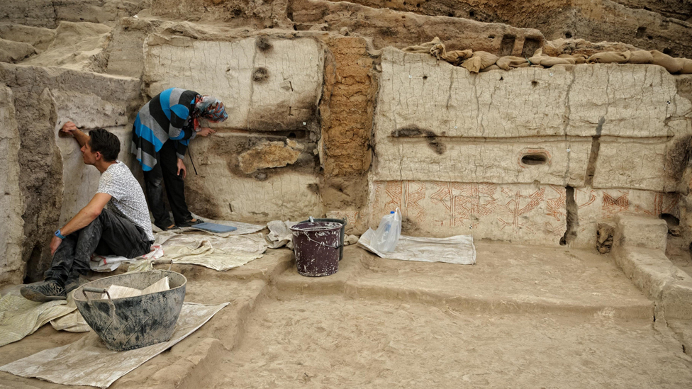 Archaeological excavations in Çatalhöyük
