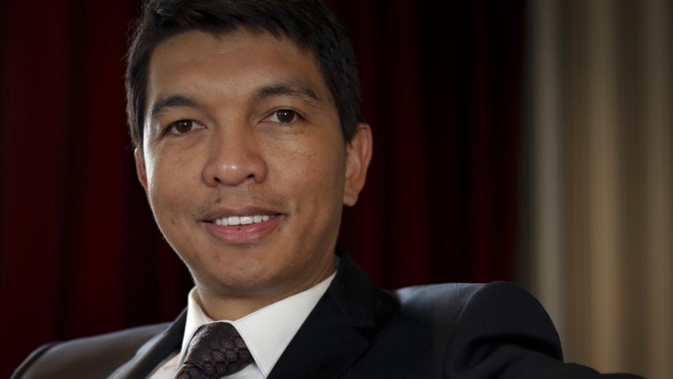 Madagascan President Andry Rajoelina
