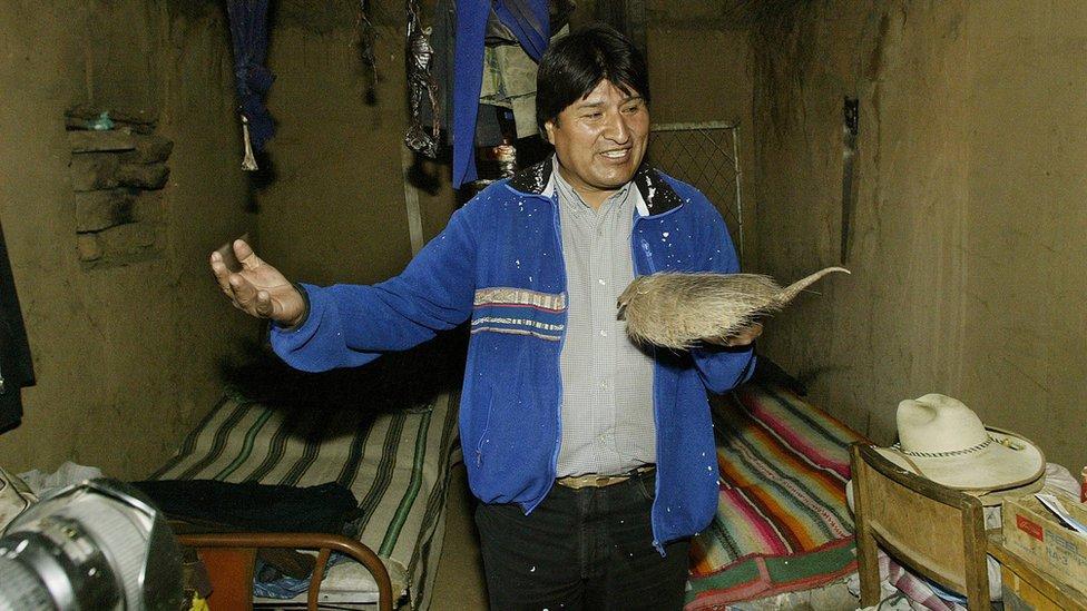 Evo Morales en Orinoca