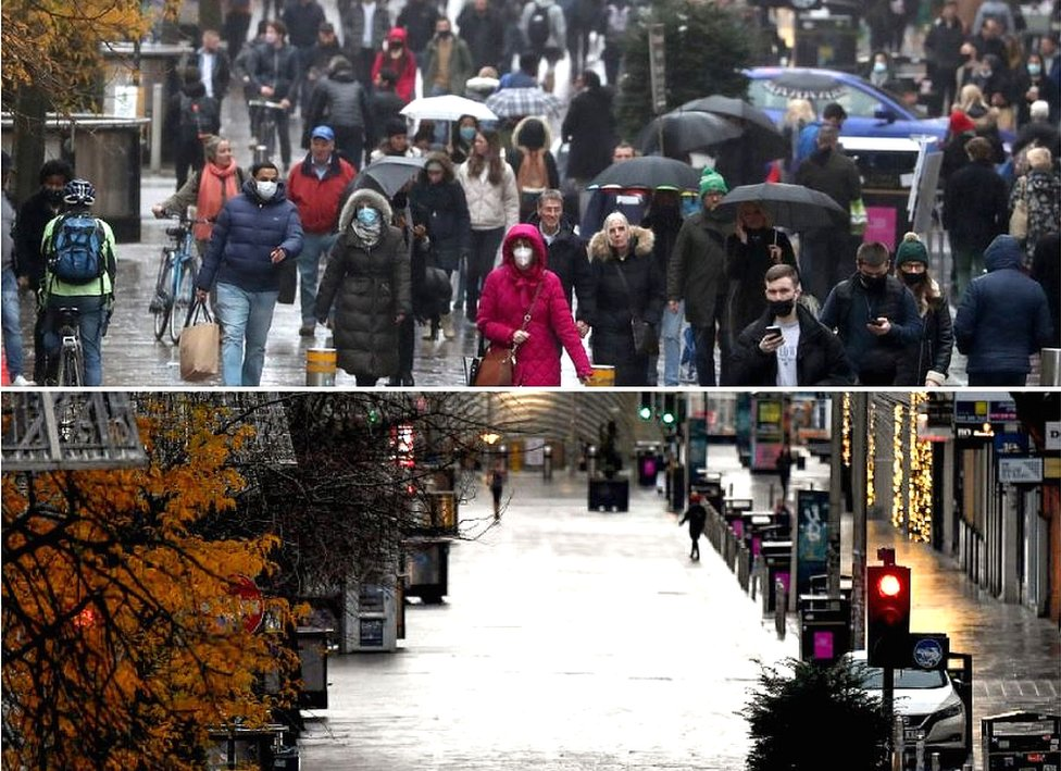 Buchanan Street on Friday and on Saturday