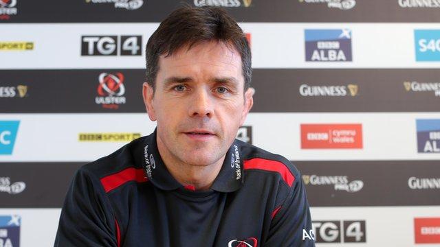 Ulster assistant coach Allen Clarke