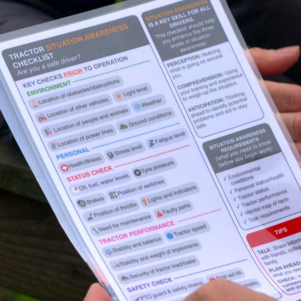 Farming safety check list