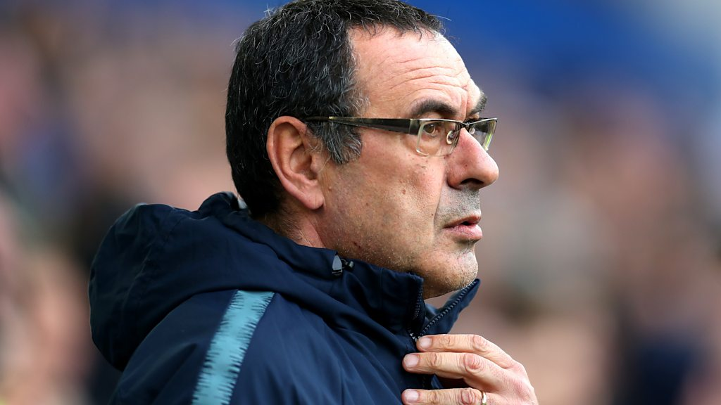 Everton 2-0 Chelsea: Second-half display 'worries' Maurizio Sarri