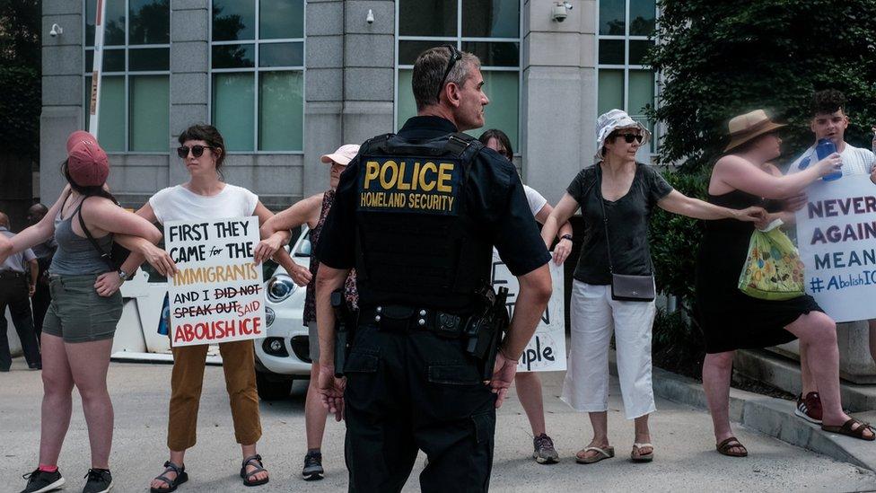 Abolish ICE protest in Washington DC on 16 July