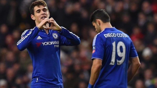 Chelsea's Oscar celebrates