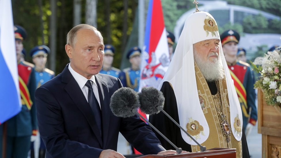 Predsednik Putin sa partijarhom Kirilom
