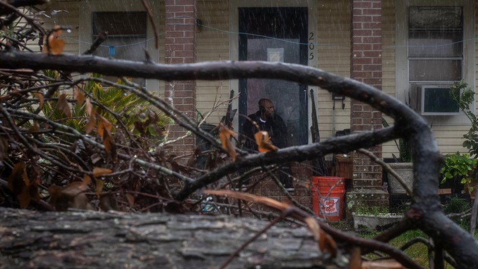 Louisiana residents continue clean-up after Hurricane Delta