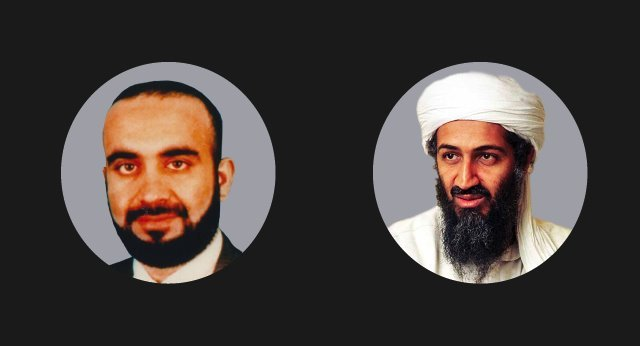 Khalid Sheikh Mohammed and Osama Bin Laden, the masterminds of the 9/11 attacks