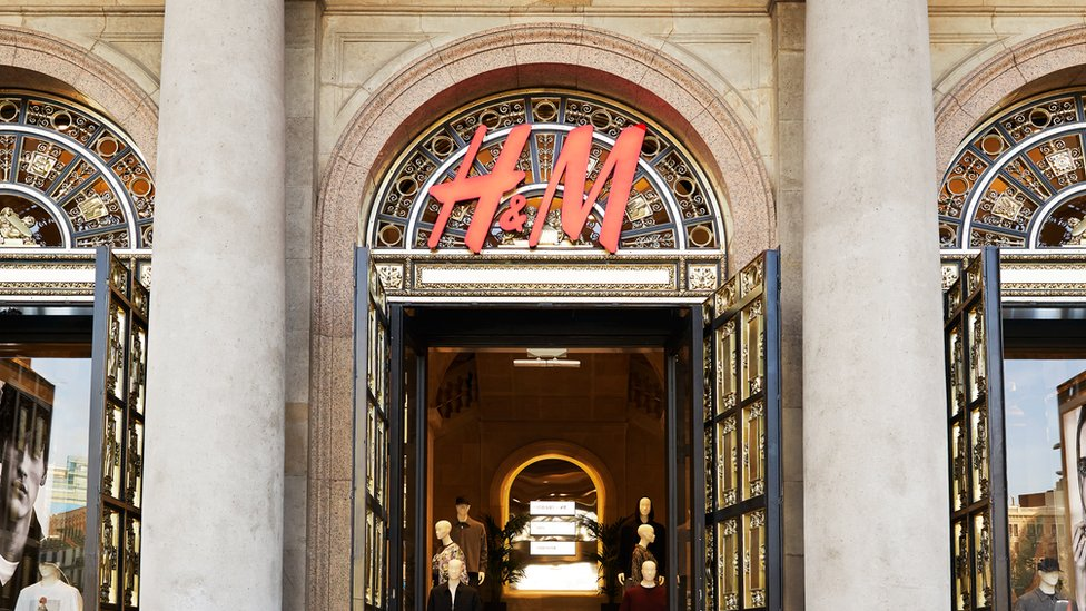 An H&M store in Barcelona