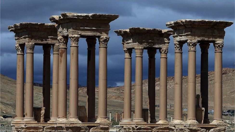 Tetrapylon Palmyra, Syria