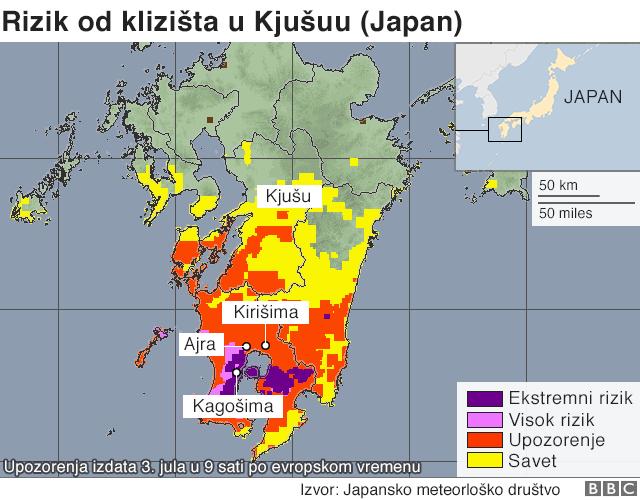 Rizik od klizišta u Japanu