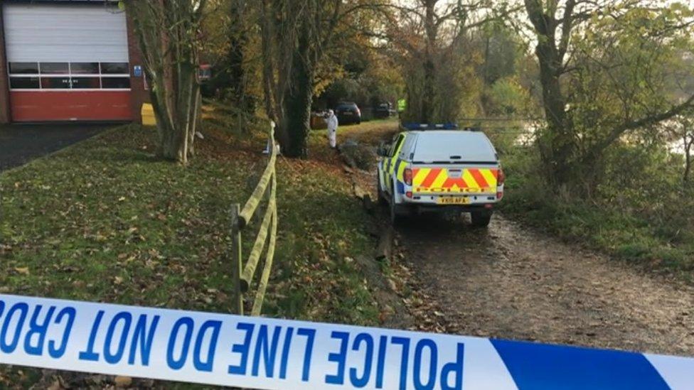 Scene where the body was found