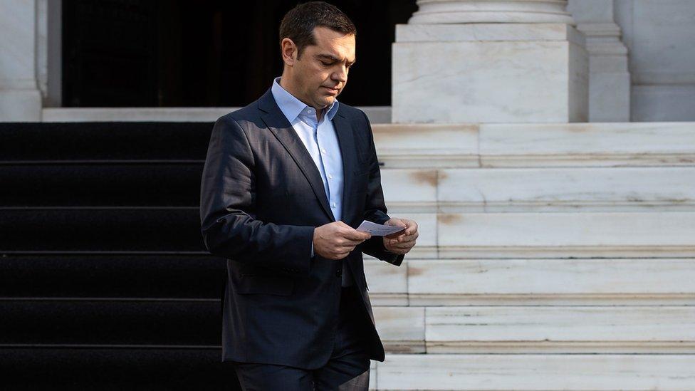 Premijer Grčke Aleksis Cipras u Atini, 13. januar