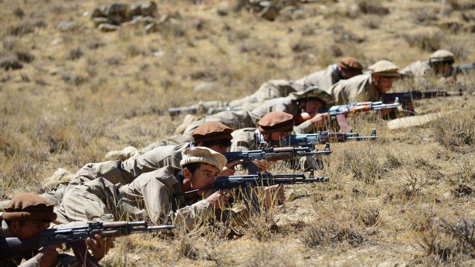 مسلحون في إقليم بانشير