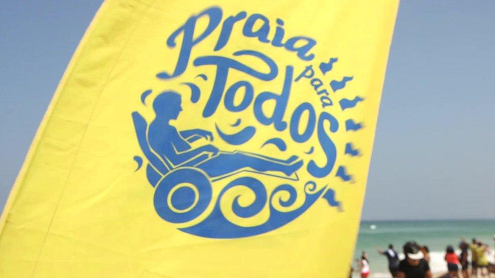Bandeira do projeto Praia para Todos
