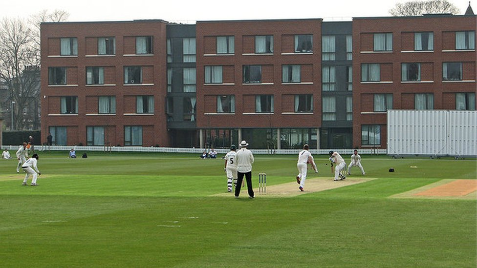 Hughes Hall and Fenner's cricket ground, Cambridge