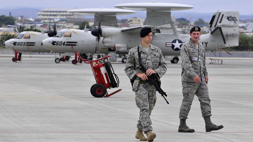 Hasta 2009, el Comando Sur mantenía operaciones desde la base de Manta, en Ecuador.