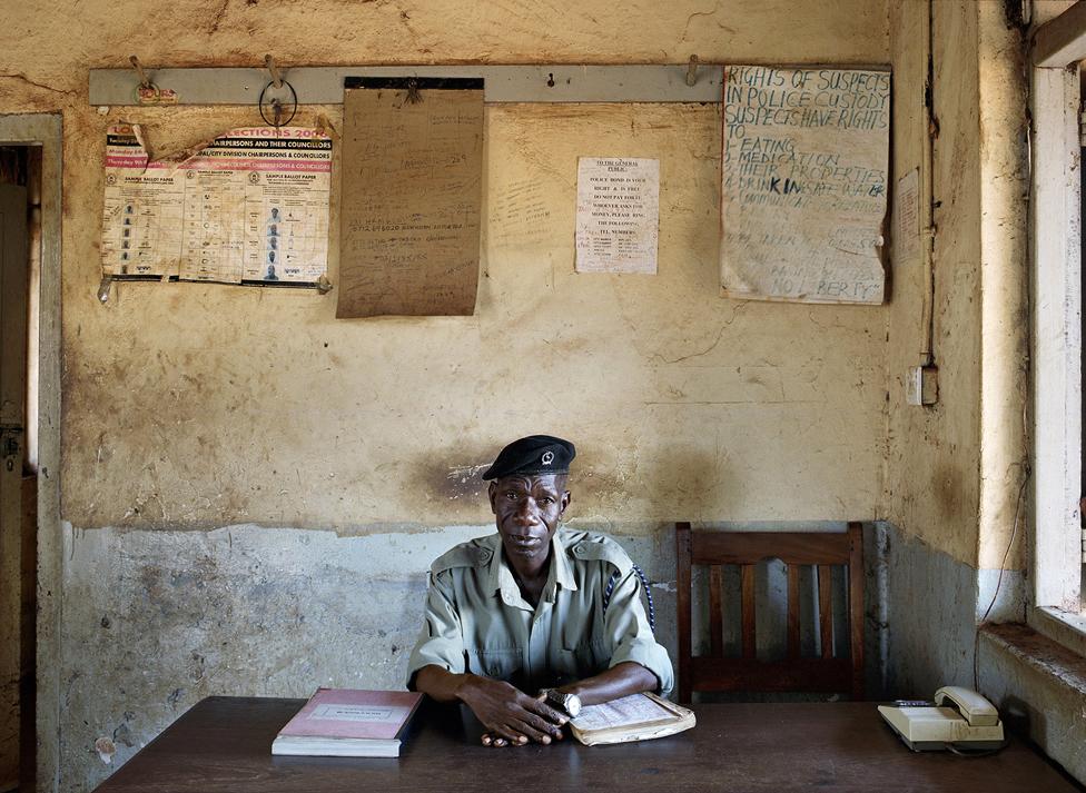 Police officer in Jinja, eastern Uganda
