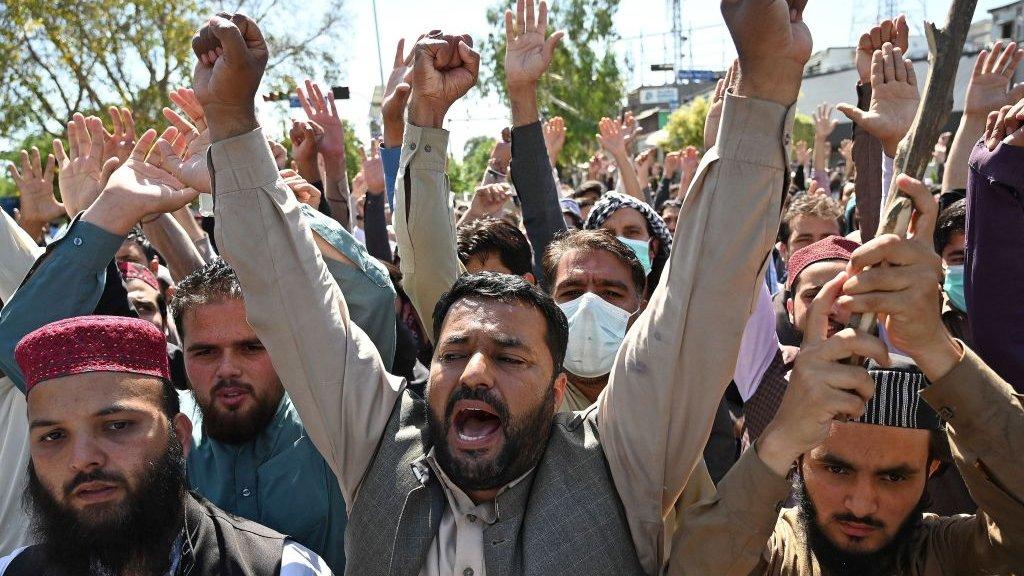 اسلام آباد میں مظاہرہ
