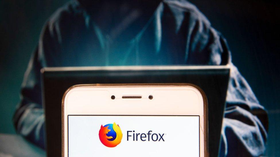 Firefox en un ordenador.