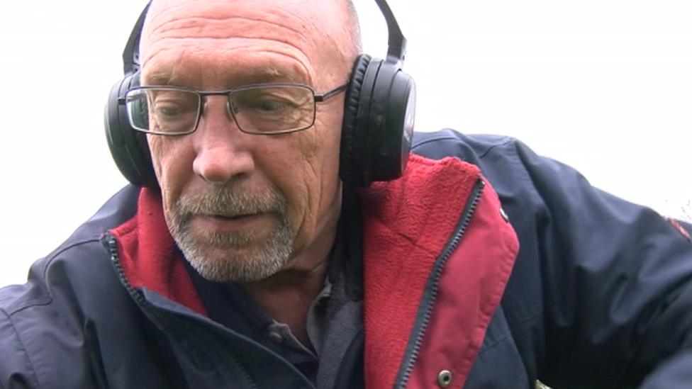 Peter Cross, the detectorist who found the teeth