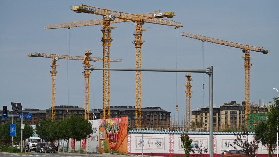 北京某恆大房地產項目工地(13/9/2021)