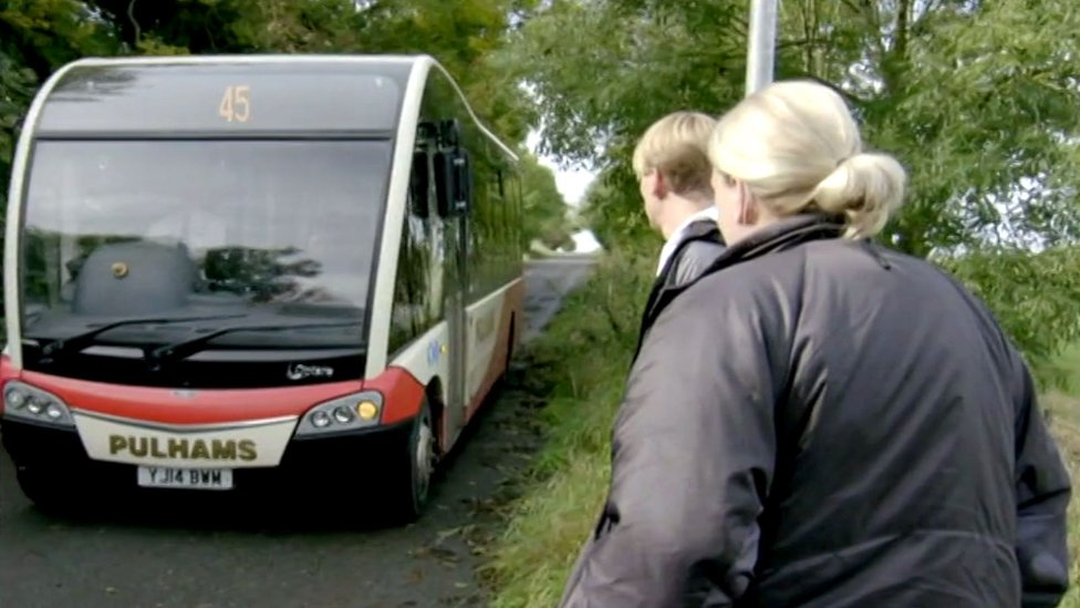 Crashed stolen bus had featured in This Country TV show