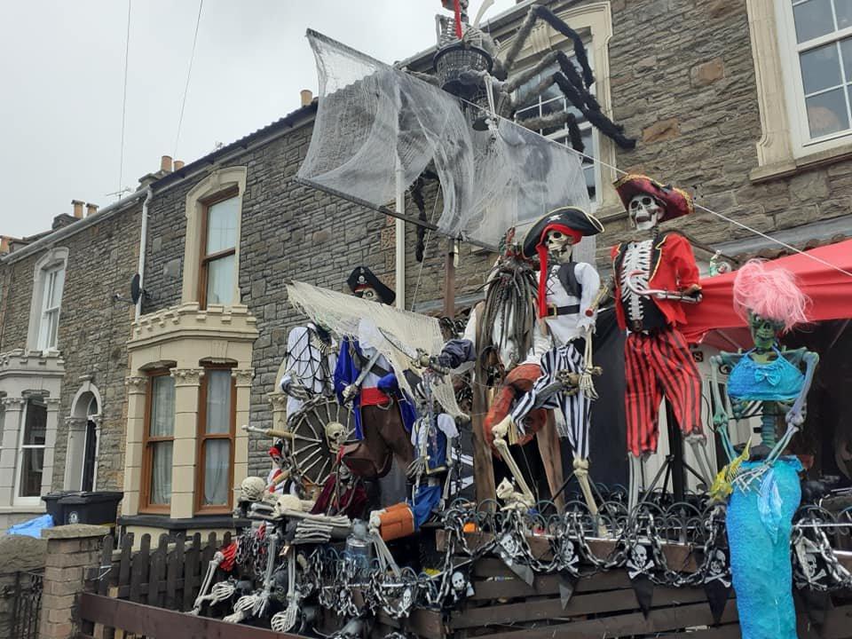 Mark Davenport's Bristol Halloween Display pirate ship
