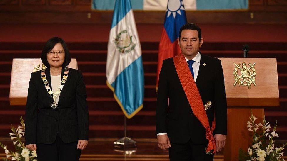 La presidente de Taiwán Tsai Ing-wen. visitó Centroamérica a inicios de 2017 para tratar de consolidar los lazos.