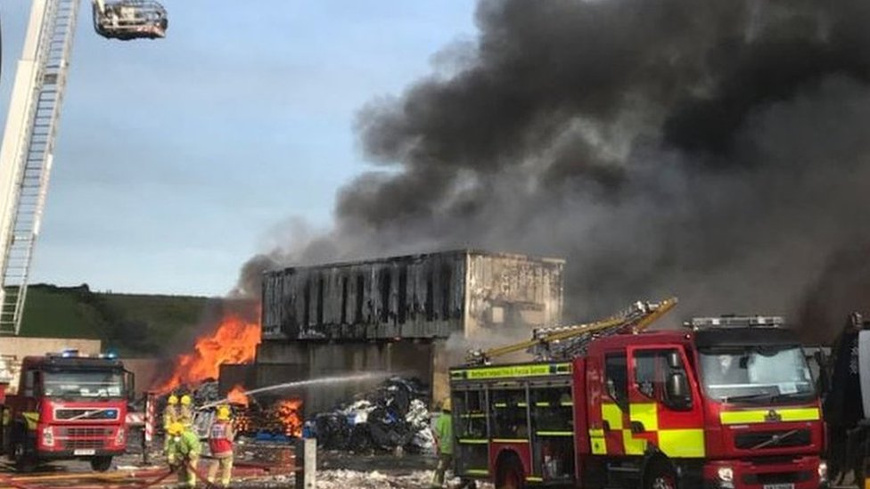 Londonderry: Warehouse fire operation to continue for hours