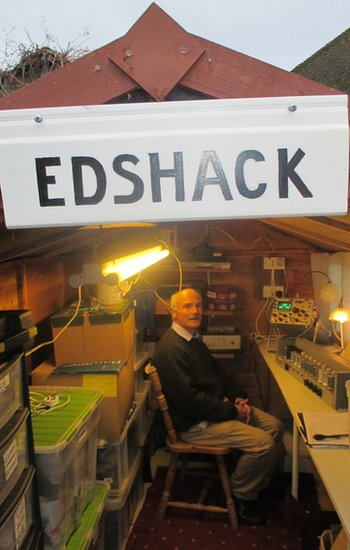 James Barr in the Edshack