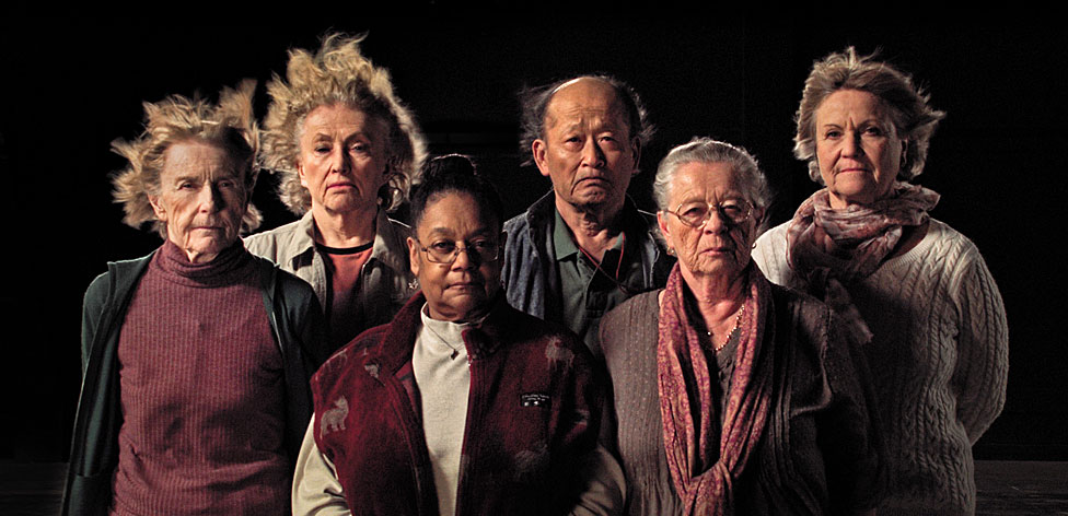 Survivors from the experiment (left to right): Mary Gidley, Edna Reves, Fe Seymour, Eisuke Yamaki, Maria Bjornstam and Servane Zanotti.