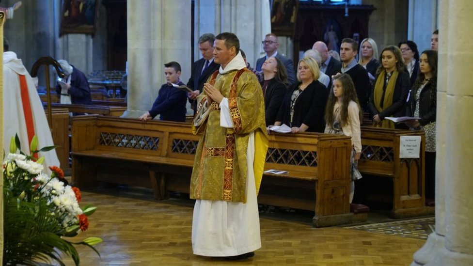 Brother Philip Mulryne at ordination service