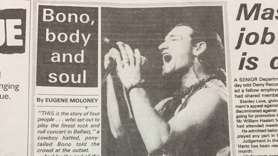 Concert review by the Irish News, June 1987