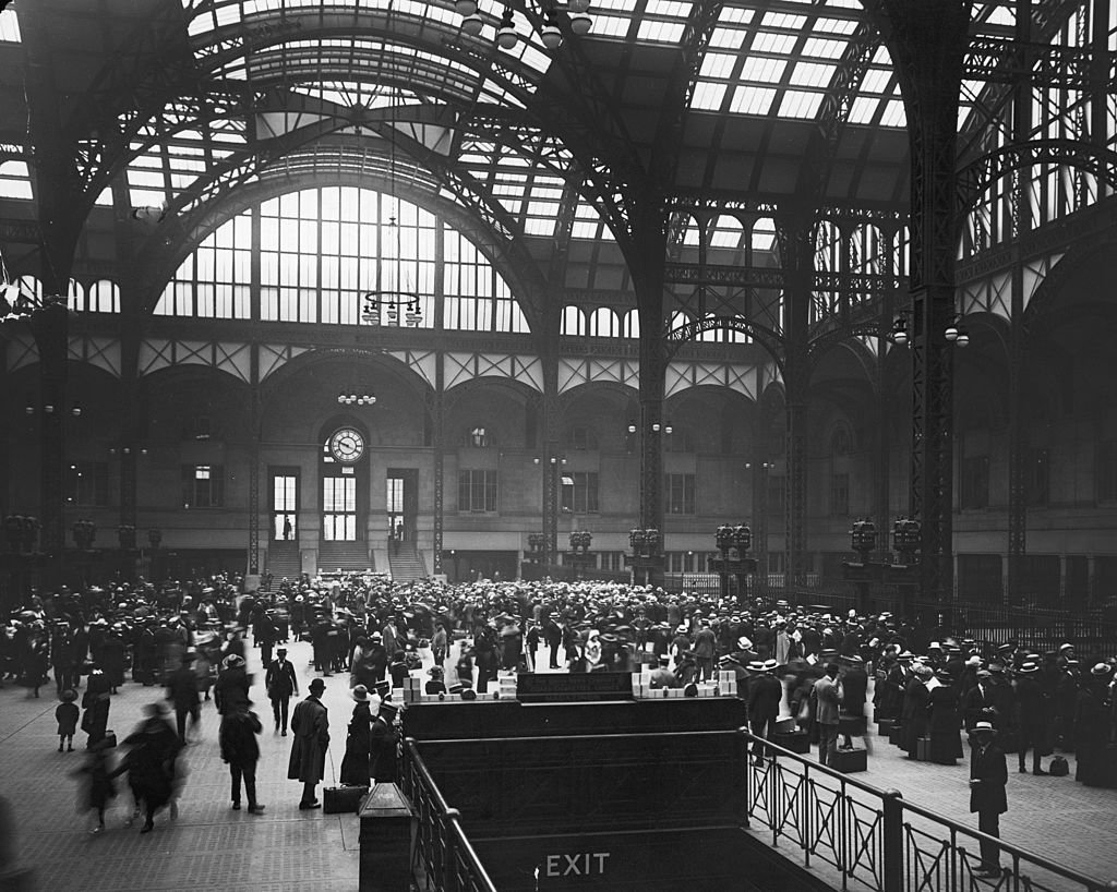 Penn Station in 1910, the year it was built
