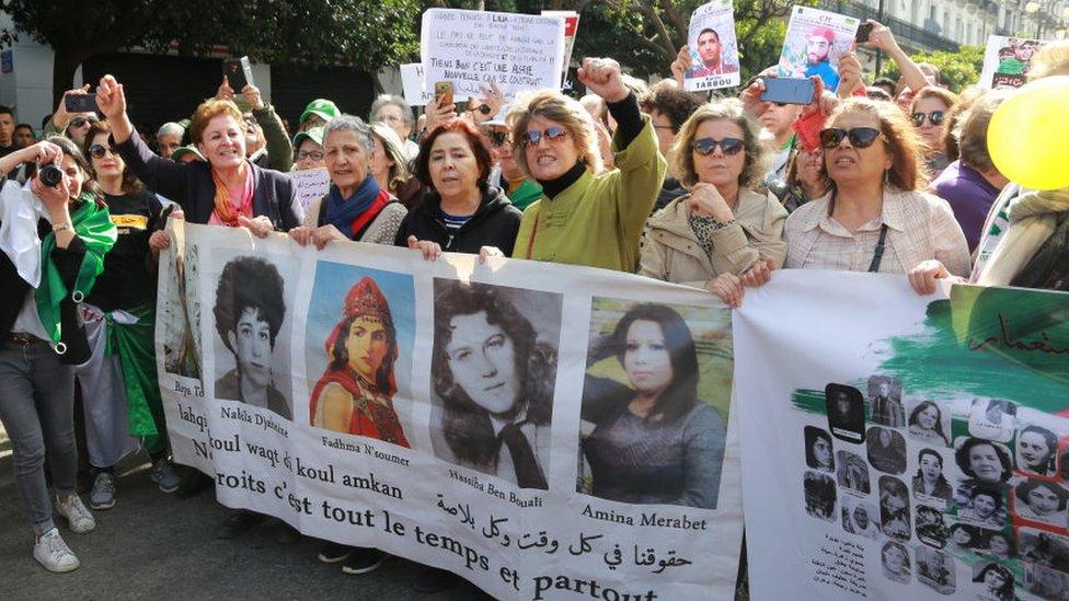 متظاهرات خلال 21 فبراير 2020