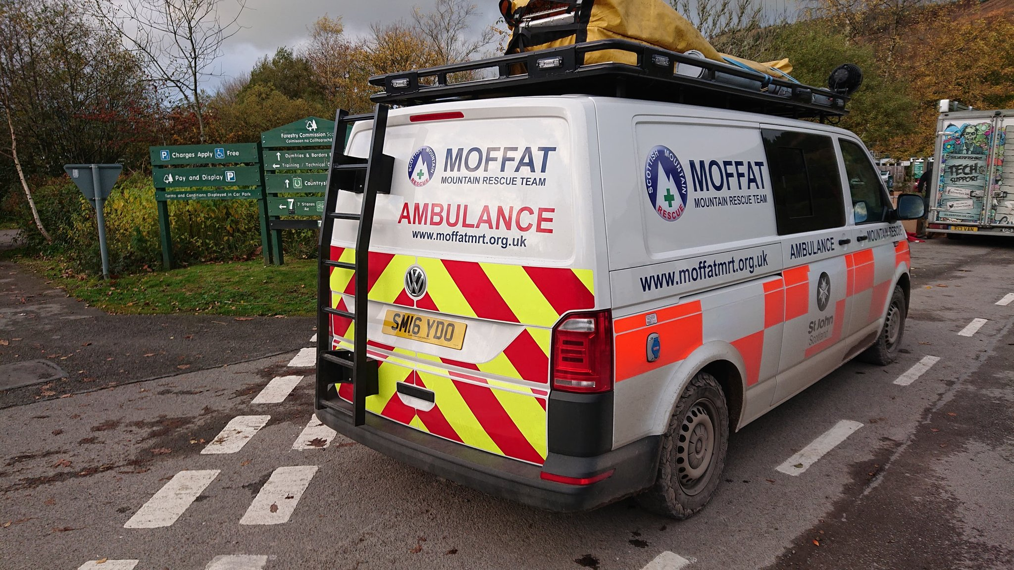 Mountain biker rescued from Ae forest after fall