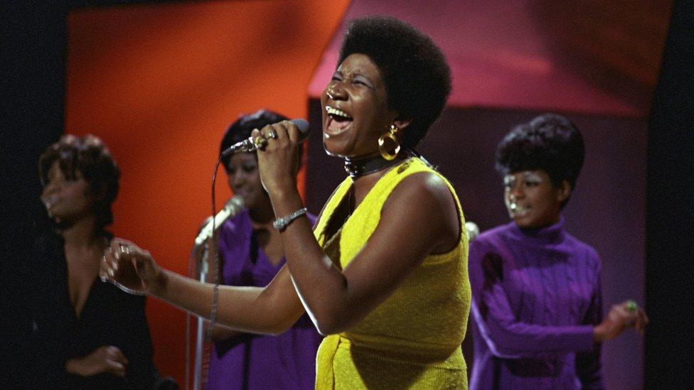 Aretha Franklin'in 1970 yılındaki bir fotoğrafı
