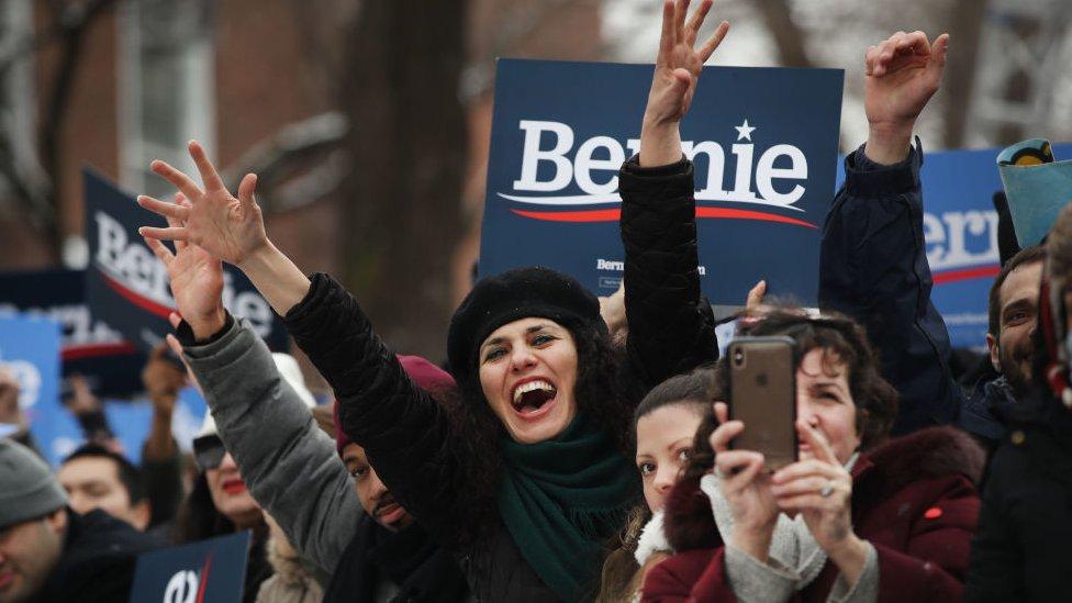 Seguidores de Bernie Sanders