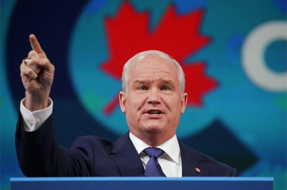 Lider Konzervativaca Erin O'Tul na partijskom skupu u Ošavi u Ontariju