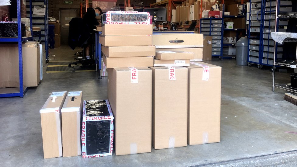 Tech.Trade items ready for delivery