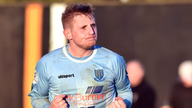 Ballymena player David Cushley