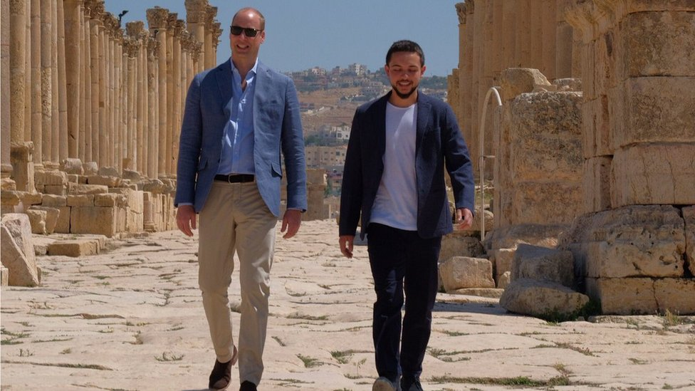 Prince William visits ancient city in Jordan during royal tour