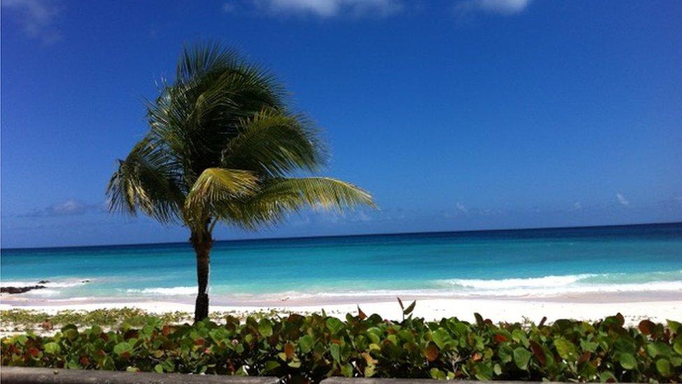 A beach view of Christ Church, Barbados