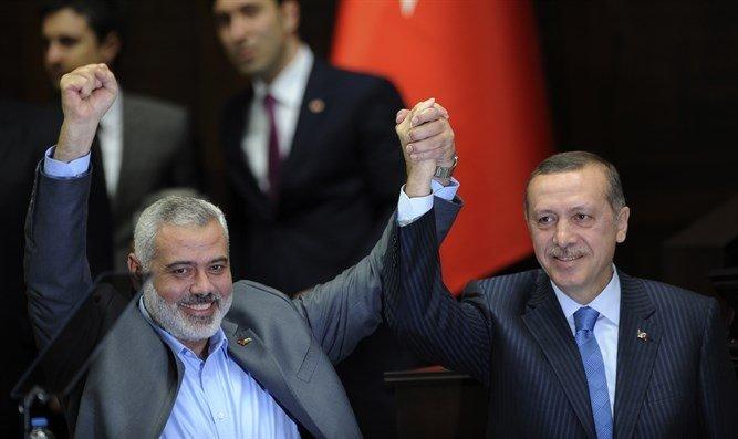 Hamas lideri İsmail Haniye ve Cumhurbaşkanı Recep Tayyip Erdoğan