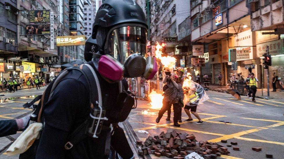10月6日香港街頭