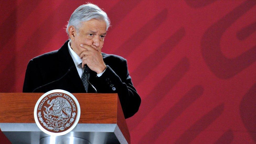 López Obrador en una conferencia de prensa