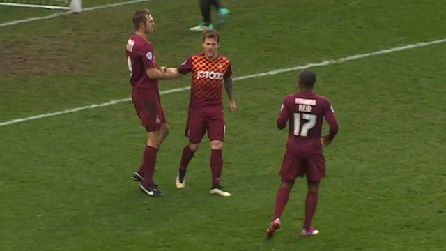 James Hanson makes it two for Bradford City