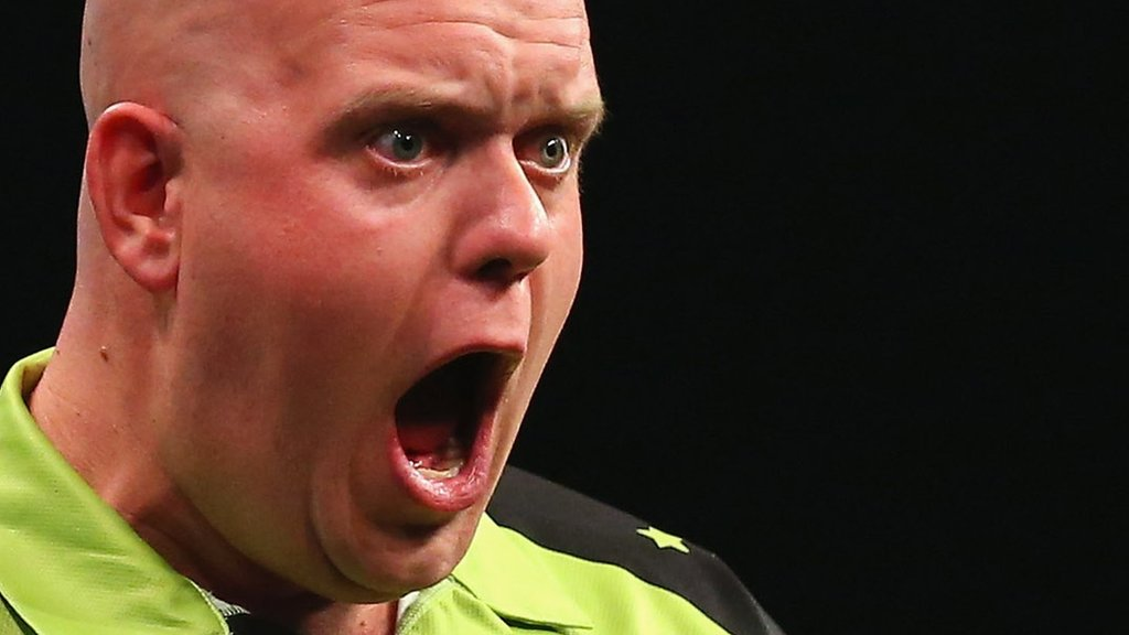 Premier League Darts: Michael van Gerwen aims to avenge Rob Cross defeat